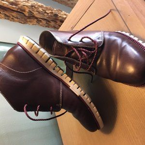 COLE HAAN ZEROGRAND CHUKKA BROWN BOOTS SIZE 7 1/2M